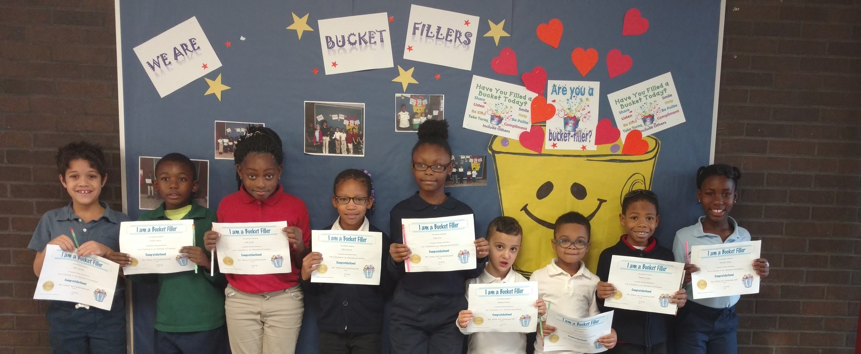A Group of students that were Bucket Fillers