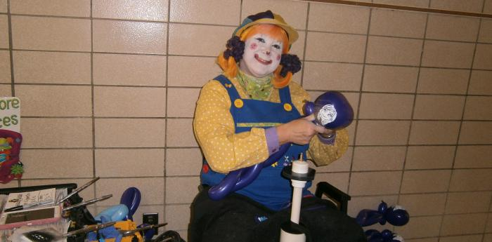 Clown seated