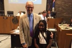 Congratulations to sixth grader Priscilla (First Place) She was invited by Mayor Siver to read her essay at the City Council Meeting.