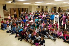 MacArthur Student Council hosted a Holiday Craft for the MacArthur Primary. The students watched the movie The Snowman and made their own snowman as a keepsake.