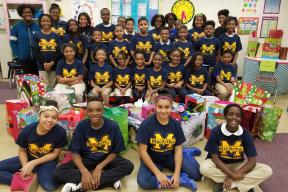 MacArthur Student Council Members partnered with Southfield Goodfellows for a second year in a row and adopted nine children this holiday season. Each grade level adopted a child and purchased clothes, coats, toys and gift cards for their adopted child. Happy Hollidays!!