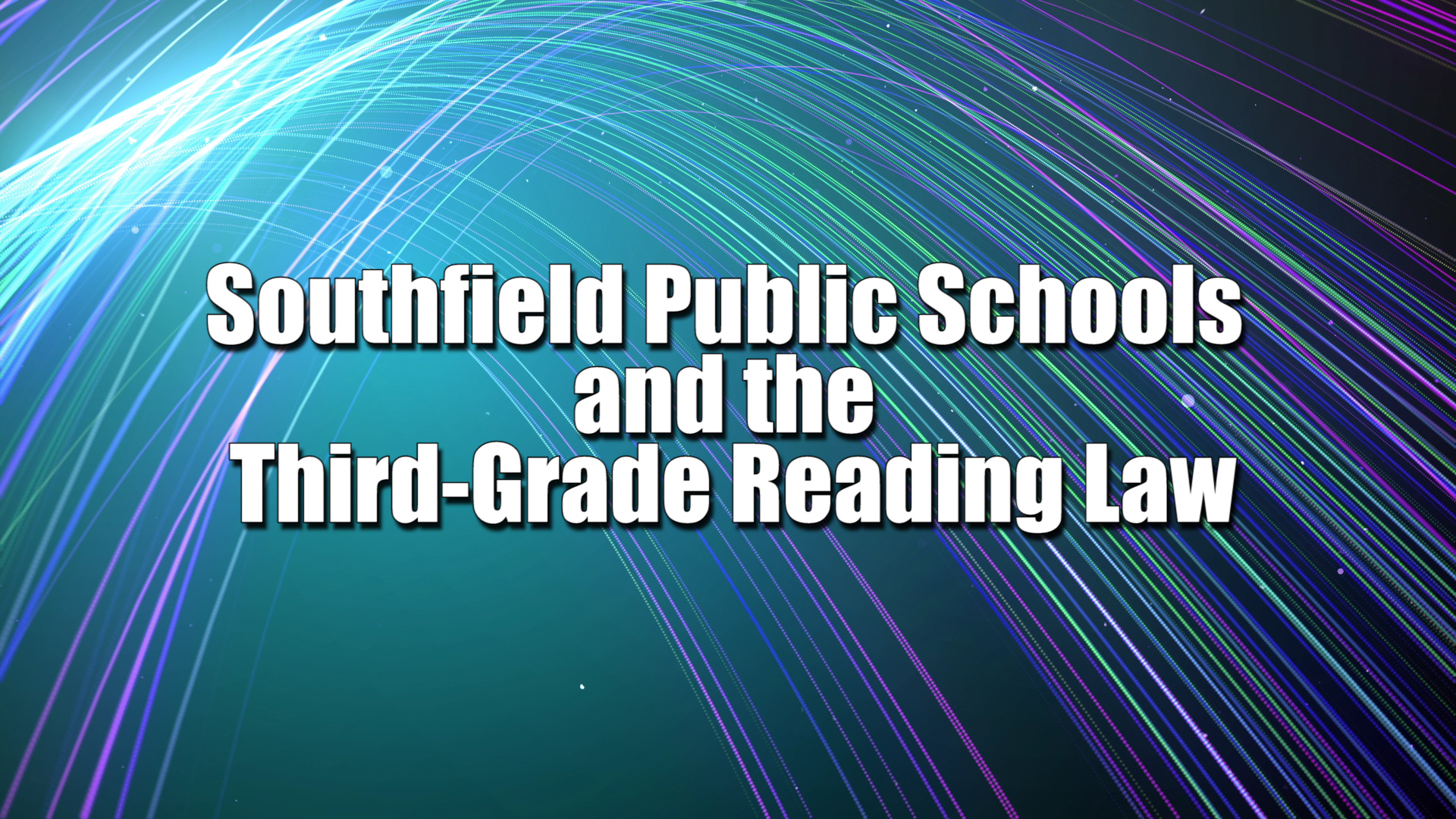 Third-Grade Reading Law Slide